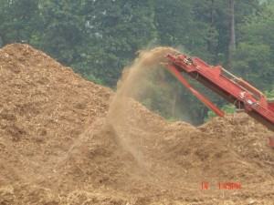Mulch Grinding Operation