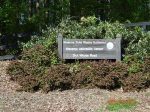 RSWA Ivy Material Utilization Center sign