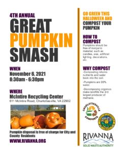 4th Annual Great Pumpkin Smash @ McIntire Recycling Center | Charlottesville | Virginia | United States