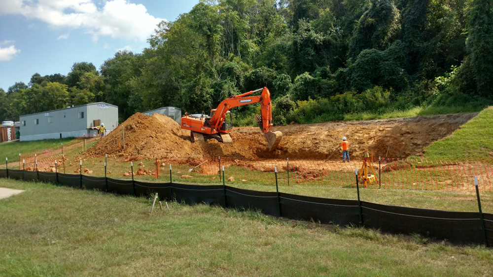 Excavation for the New Biological Odor Scrubber